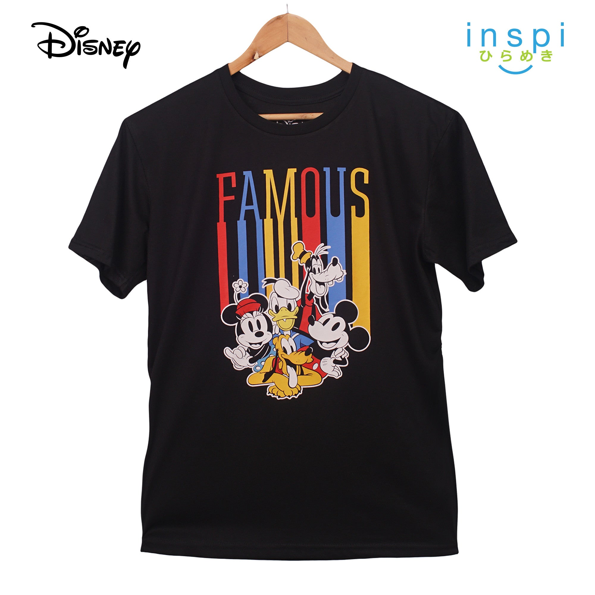 Disney Famous Mickey and Friends Graphic Tshirt in Black for Men Inspi Shirt