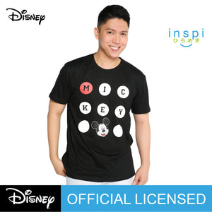 Disney Mickey Mouse Polkadots Graphic Tshirt in Black For Men Inspi Shirt