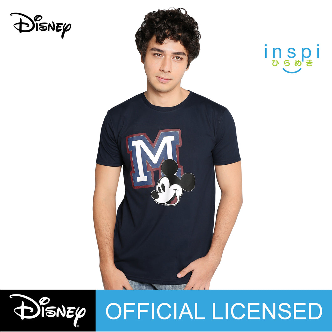 Disney Mickey Mouse M Graphic Tshirt in Navy Blue For Men Inspi Shirt
