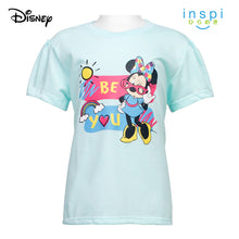 Load image into Gallery viewer, Disney Minnie Mouse Be You Tshirt in Powder Blue for Girls Inspi Shirt