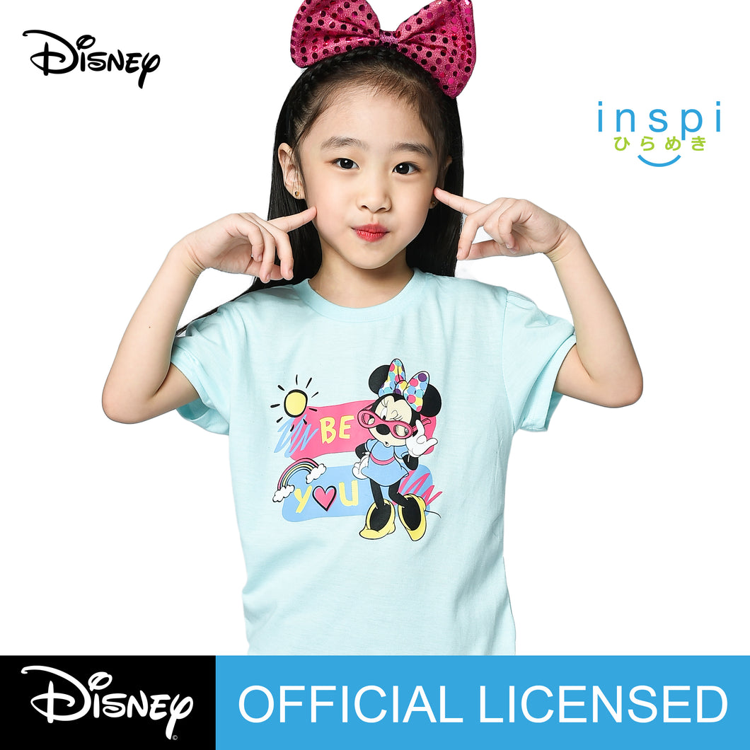 Disney Minnie Mouse Be You Tshirt in Powder Blue for Girls Inspi Shirt
