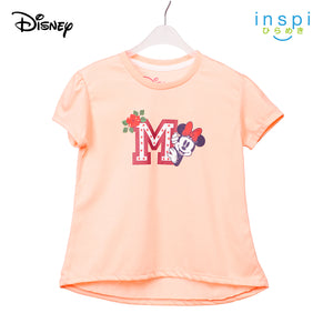 Disney Minnie Mouse Initial Tshirt in Sorbet for Girls Inspi Shirt