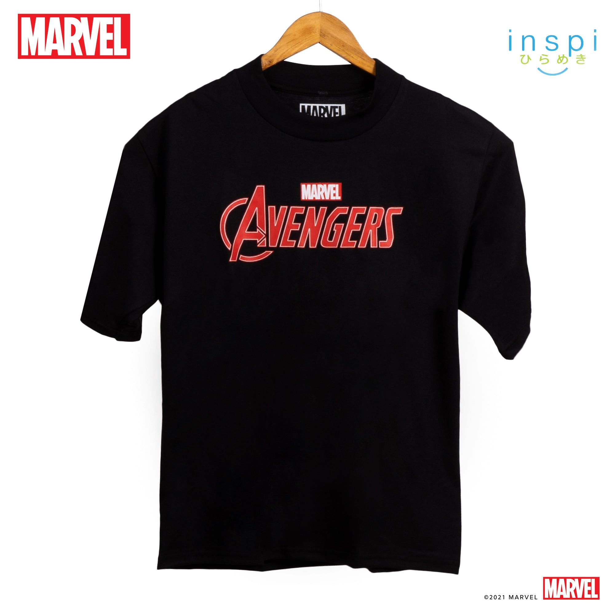 Marvel Loose Fit Avengers Graphic Korean Oversized Tshirt in Black Inspi Tee