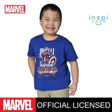 Load image into Gallery viewer, Marvel Captain America Sentinel of Liberty Tshirt in Royal Blue for Boys Inspi Shirt