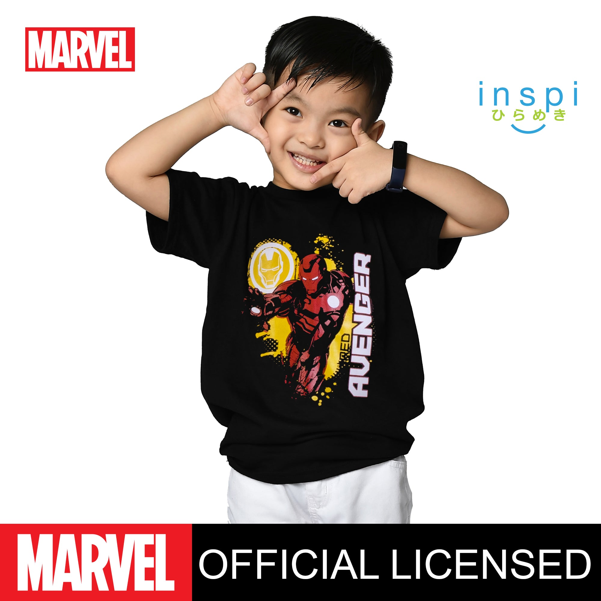 Marvel Armored Avenger Tshirt in Black for Boys Inspi Shirt