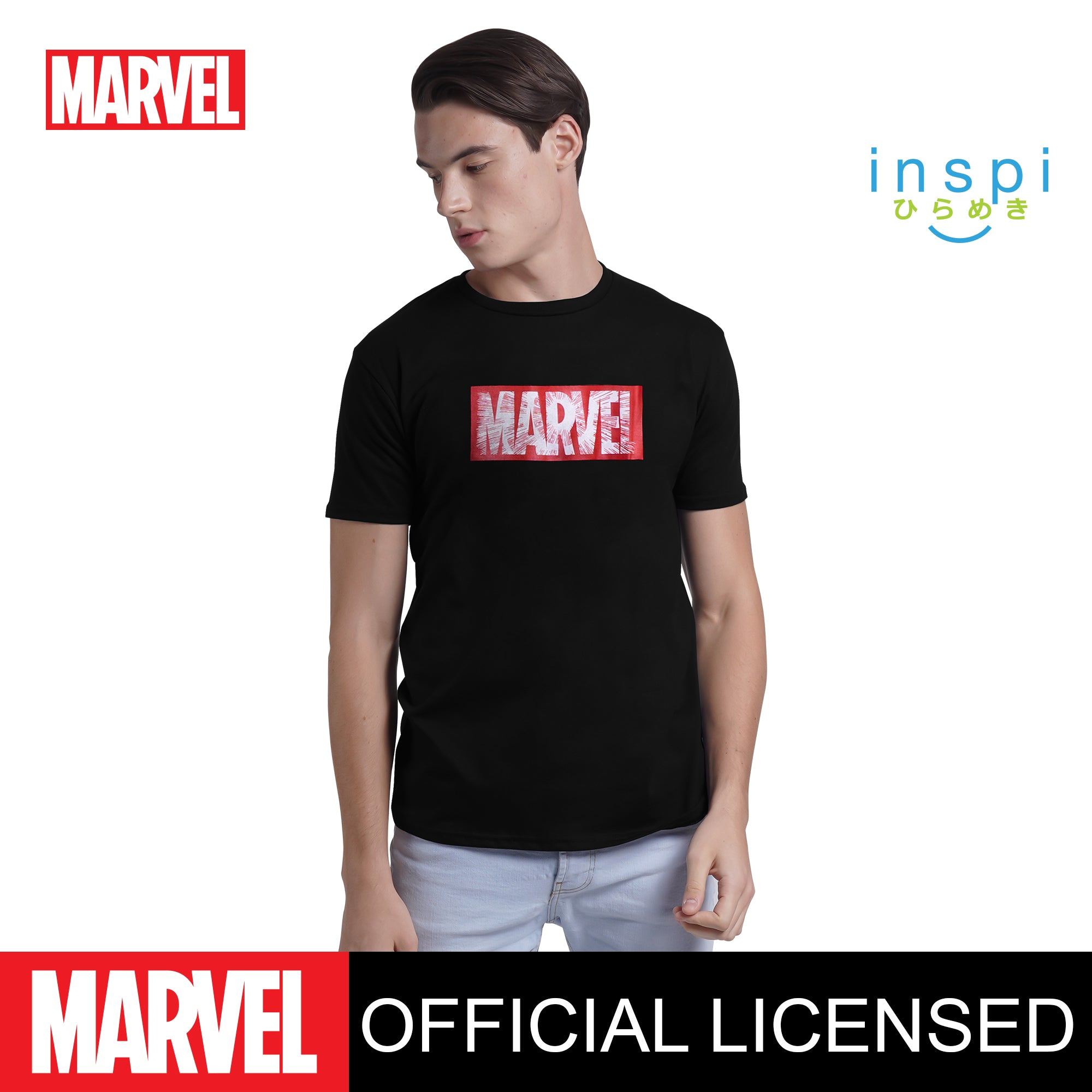 Marvel Logo Zoom Graphic Tshirt in Black for Men and for Women Inspi Shirt