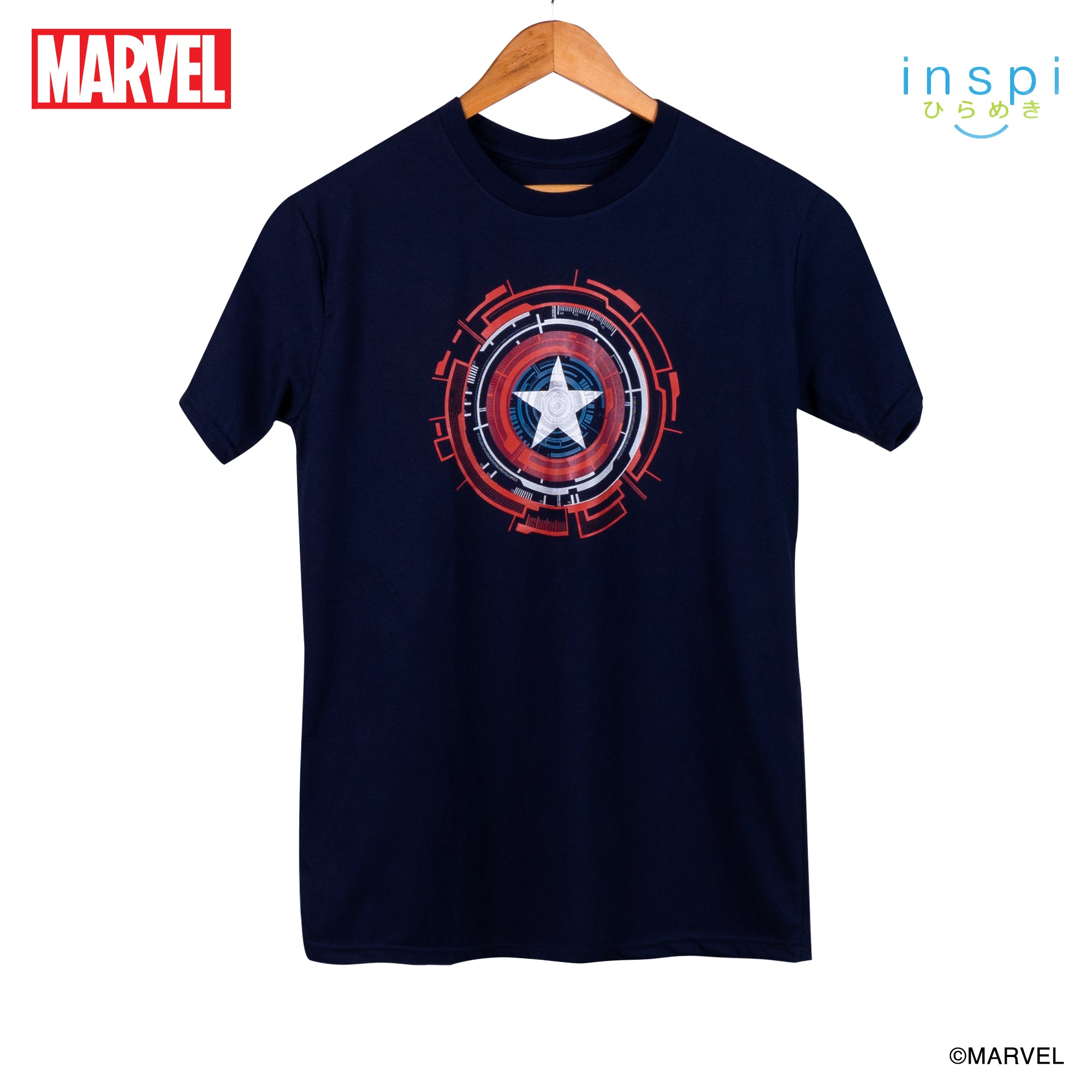 Marvel Captain America Logo Graphic Tshirt in Navy Blue for Men and for Women Inspi Shirt