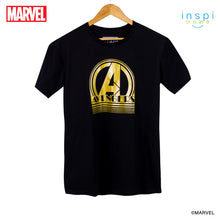 Load image into Gallery viewer, Marvel Avengers Retro Logo Graphic Tshirt in Black for Men and for Women Inspi Shirt