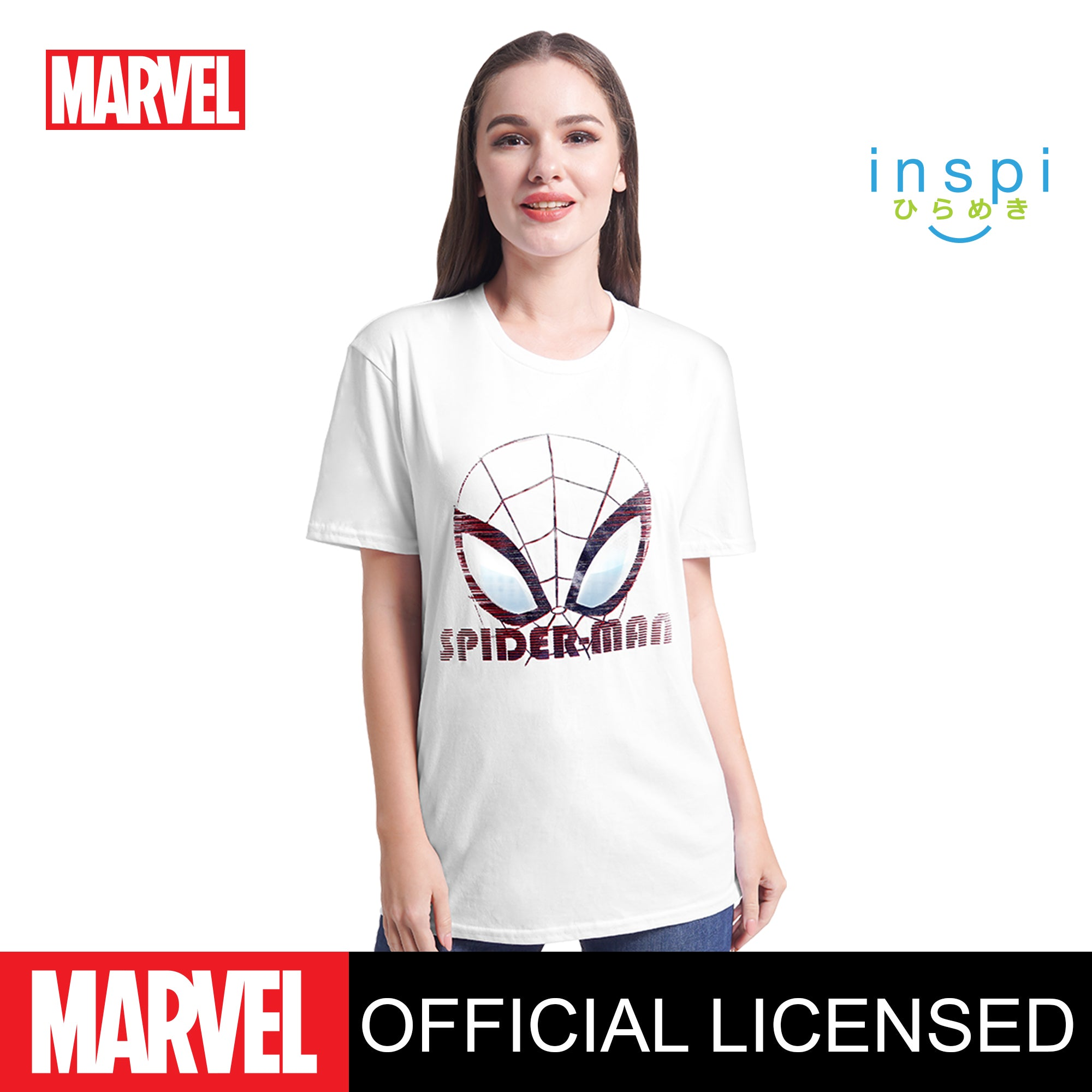 Marvel Spider Man Glitch Effect Graphic Tshirt in White for Men and for Women Inspi Shirt