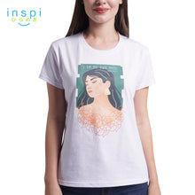 Load image into Gallery viewer, INSPI Tees Ladies Loose Fit I Am My Own Muse Graphic Tshirt in White