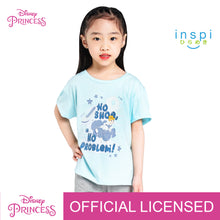 Load image into Gallery viewer, Disney Princess Cinderella No Shoe No Problem Tshirt in Powder Blue for Girls Inspi Shirt