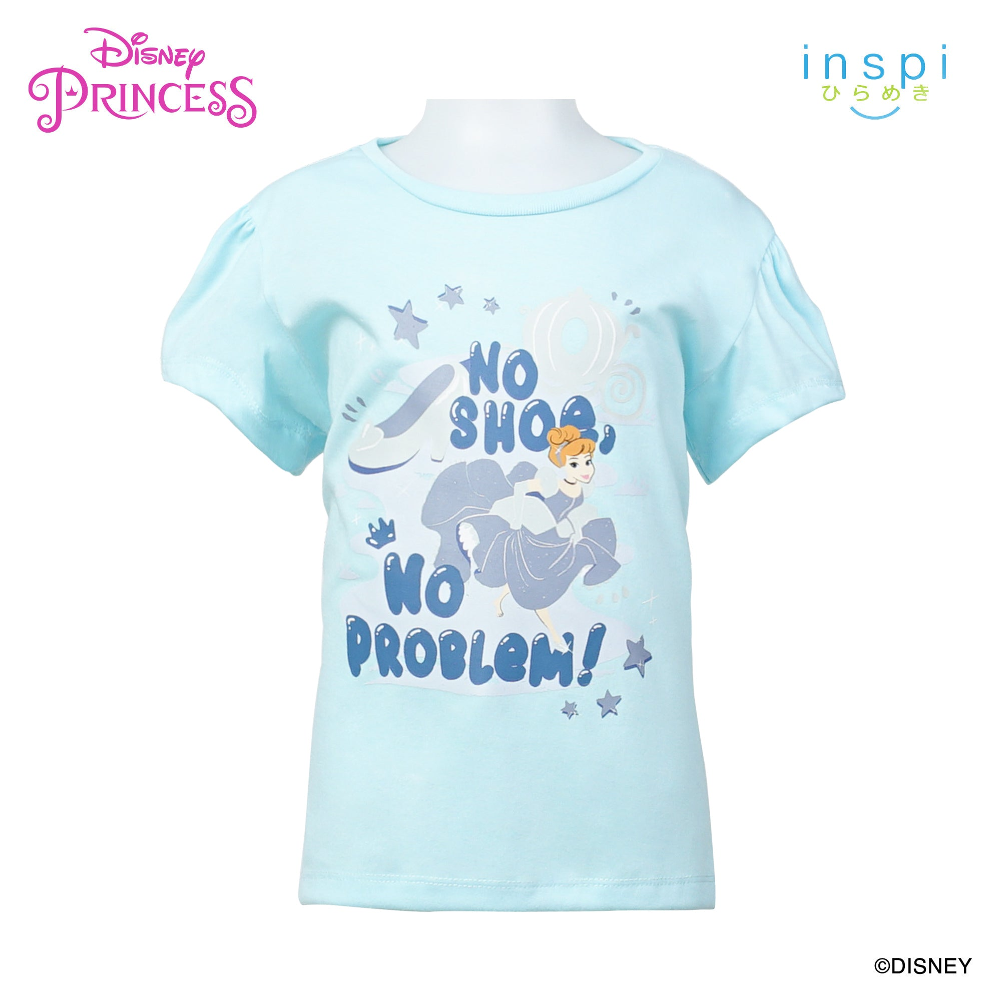 Disney Princess Cinderella No Shoe No Problem Tshirt in Powder Blue for Girls Inspi Shirt