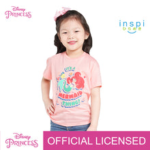 Load image into Gallery viewer, Disney Princess Ariel Mermaid Thing Tshirt in Dairy Peach for Girls Inspi Shirt