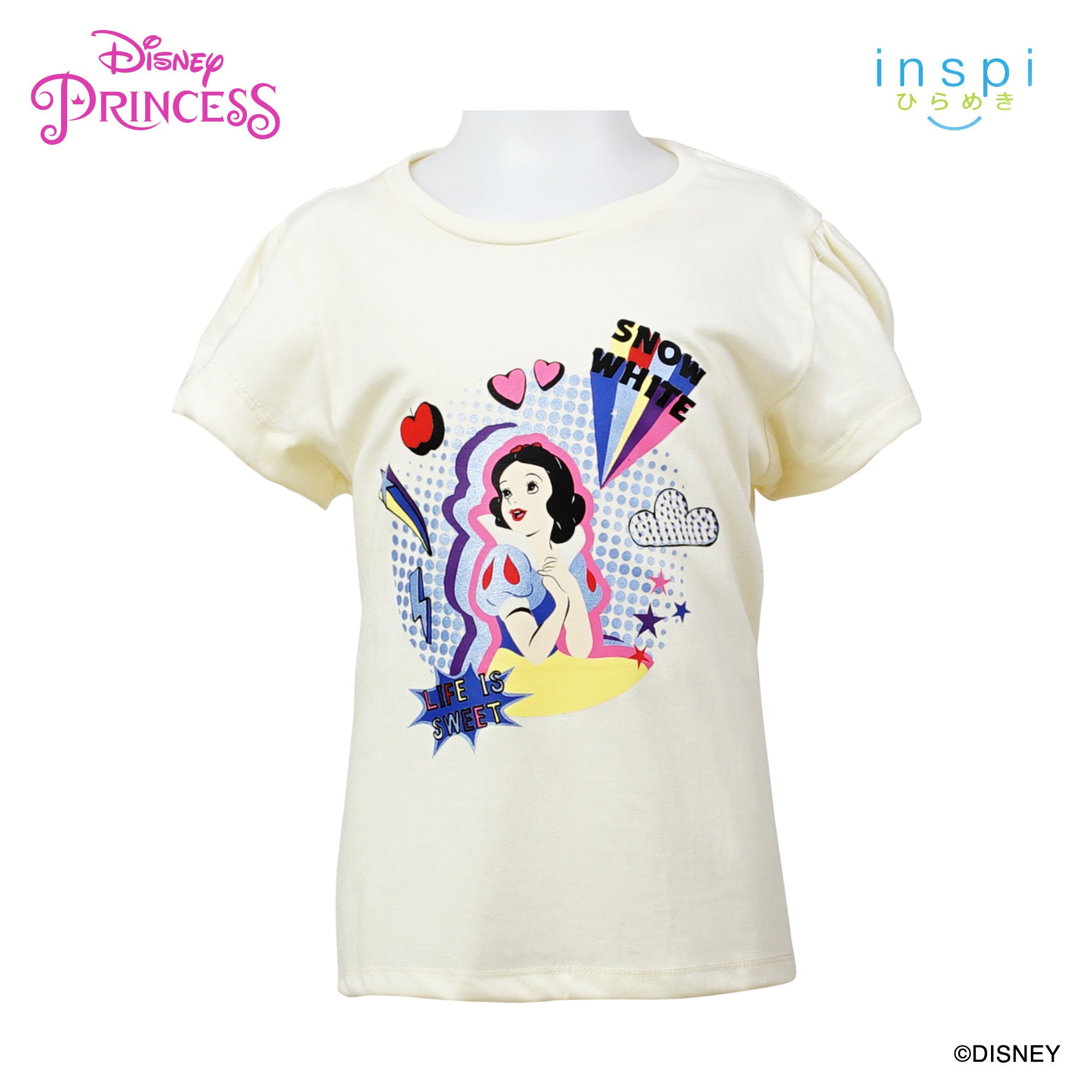 Disney Princess Snow White Life is Sweet Tshirt in Creamy White for Girls Inspi Shirt