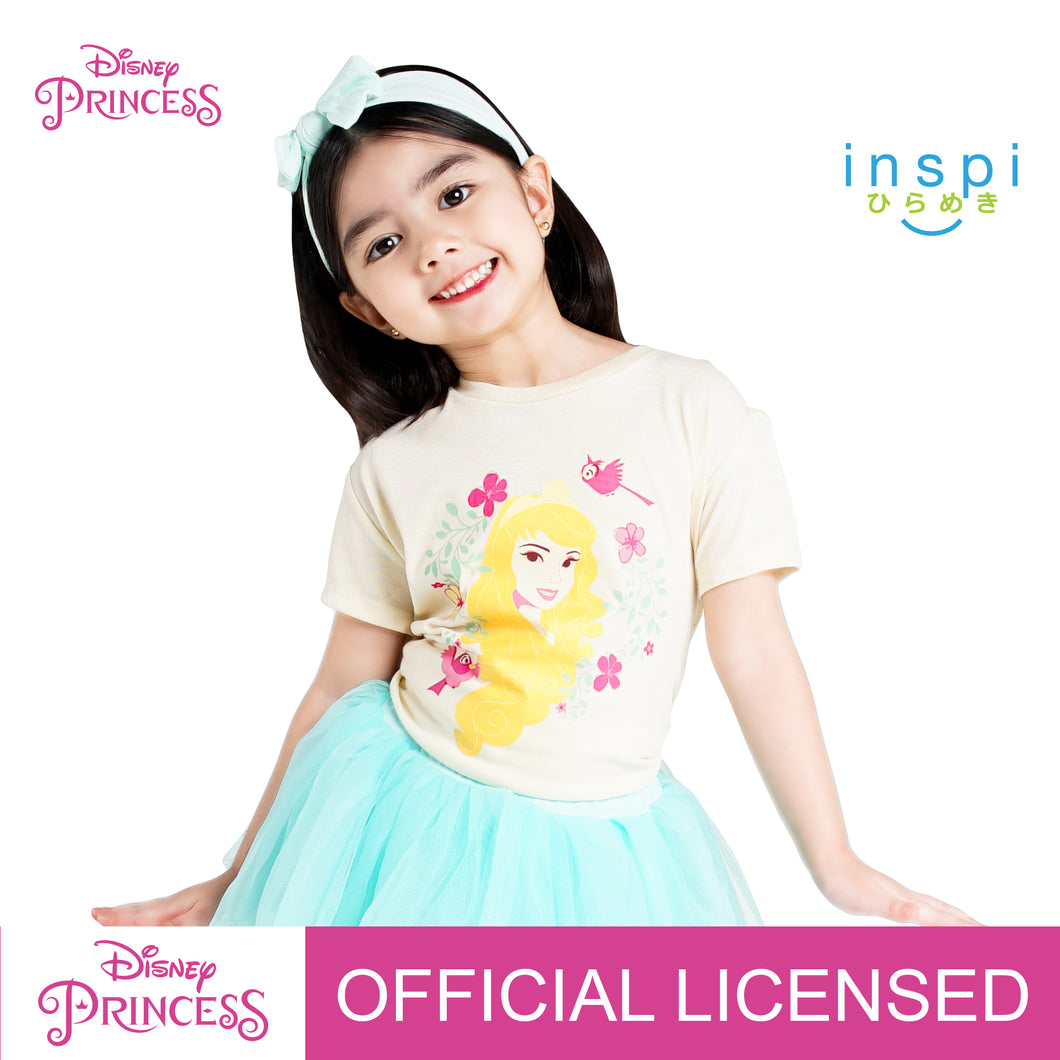 Disney Princess Aurora Tshirt in Milktea for Girls Inspi Shirt