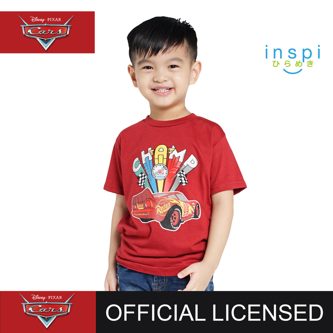 Disney Cars Champ Tshirt in Brick Red for Boys Inspi Shirt
