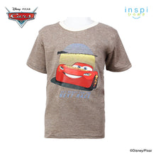 Load image into Gallery viewer, Disney Cars Get Ready Tshirt in Heather Sycamor for Boys Inspi Shirt