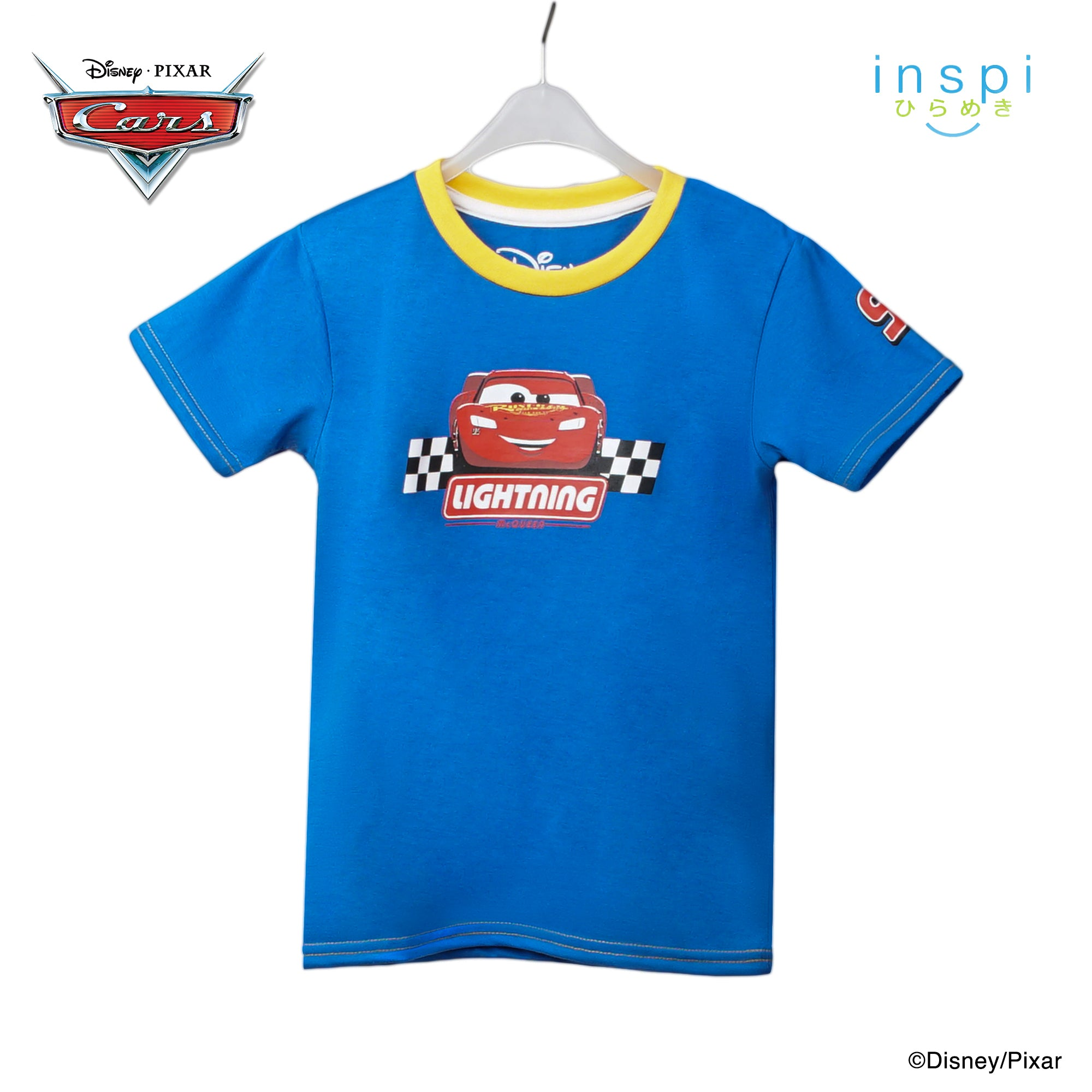 Disney Cars Lightning McQueen Tshirt in Light Blue for Boys Inspi Shirt