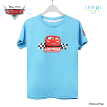 Load image into Gallery viewer, Disney Cars Lightning Mc Queen Tshirt in After Glow Aqua for Boys Inspi Shirt