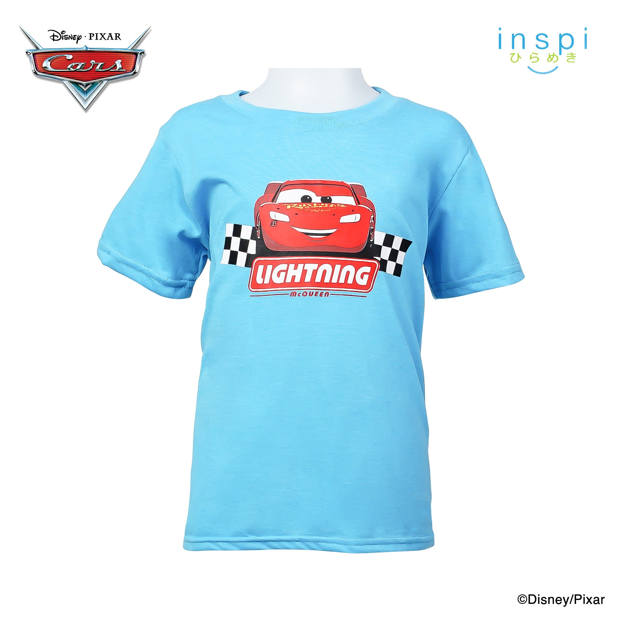 Disney Cars Lightning Mc Queen Tshirt in After Glow Aqua for Boys Inspi Shirt
