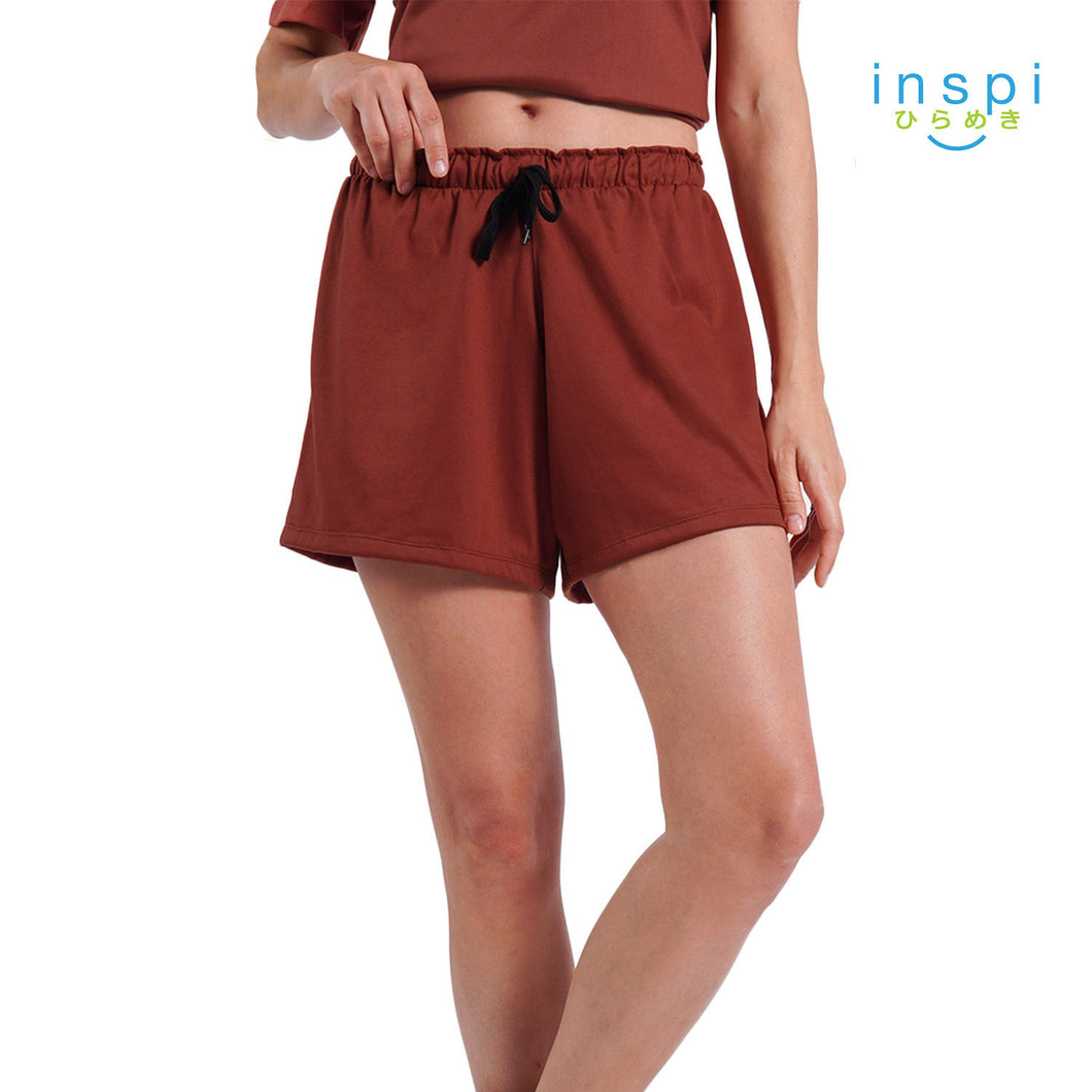 INSPI Ladies Comfies Casual Shorts in Red pambahay Coords Short for woman loungewear woman pajama