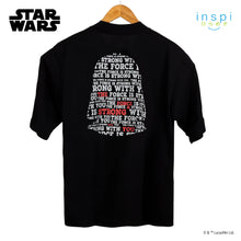 Load image into Gallery viewer, Star Wars Loose Fit The Force is Strong With You Graphic Korean Oversized Tshirt in Black Inspi Tee