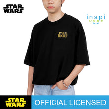 Load image into Gallery viewer, Star Wars Gold Graphic Korean Oversized Tshirt in Black Inspi Tee