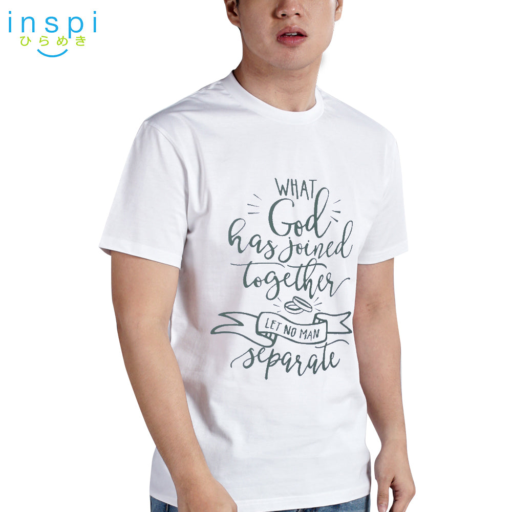 INSPI Shirt God Has Joined Together Graphic Shirt in White