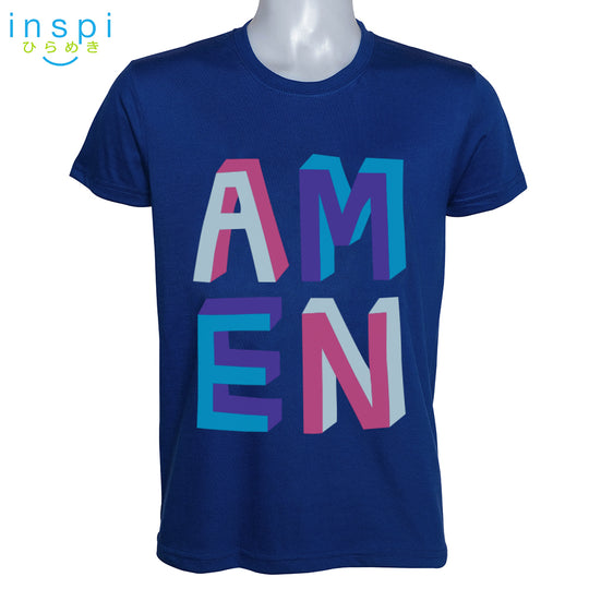 INSPI Shirt Amen Graphic Shirt in Blue