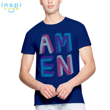 Load image into Gallery viewer, INSPI Shirt Amen Graphic Shirt in Blue