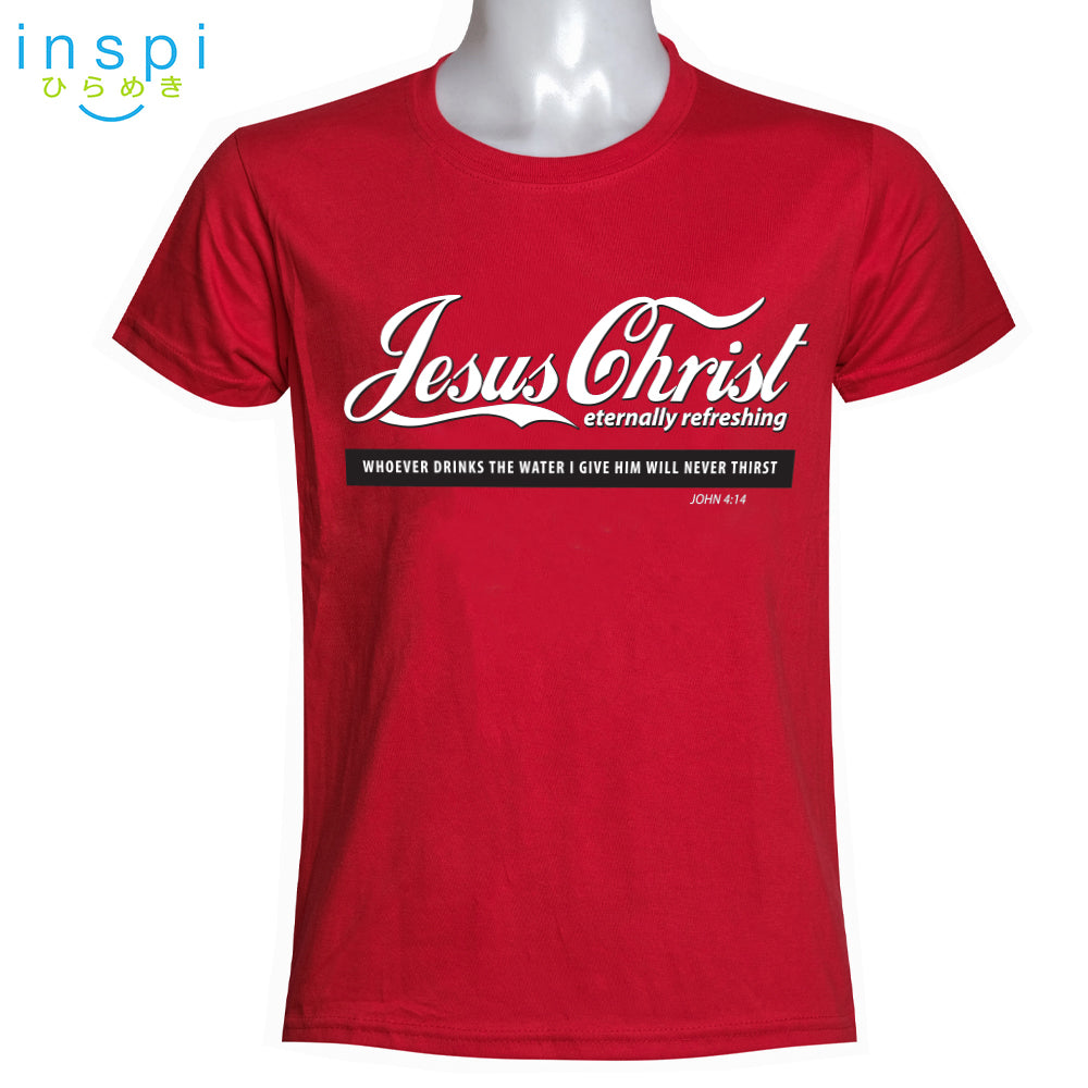 INSPI Shirt Jesus Christ Graphic Shirt in Red