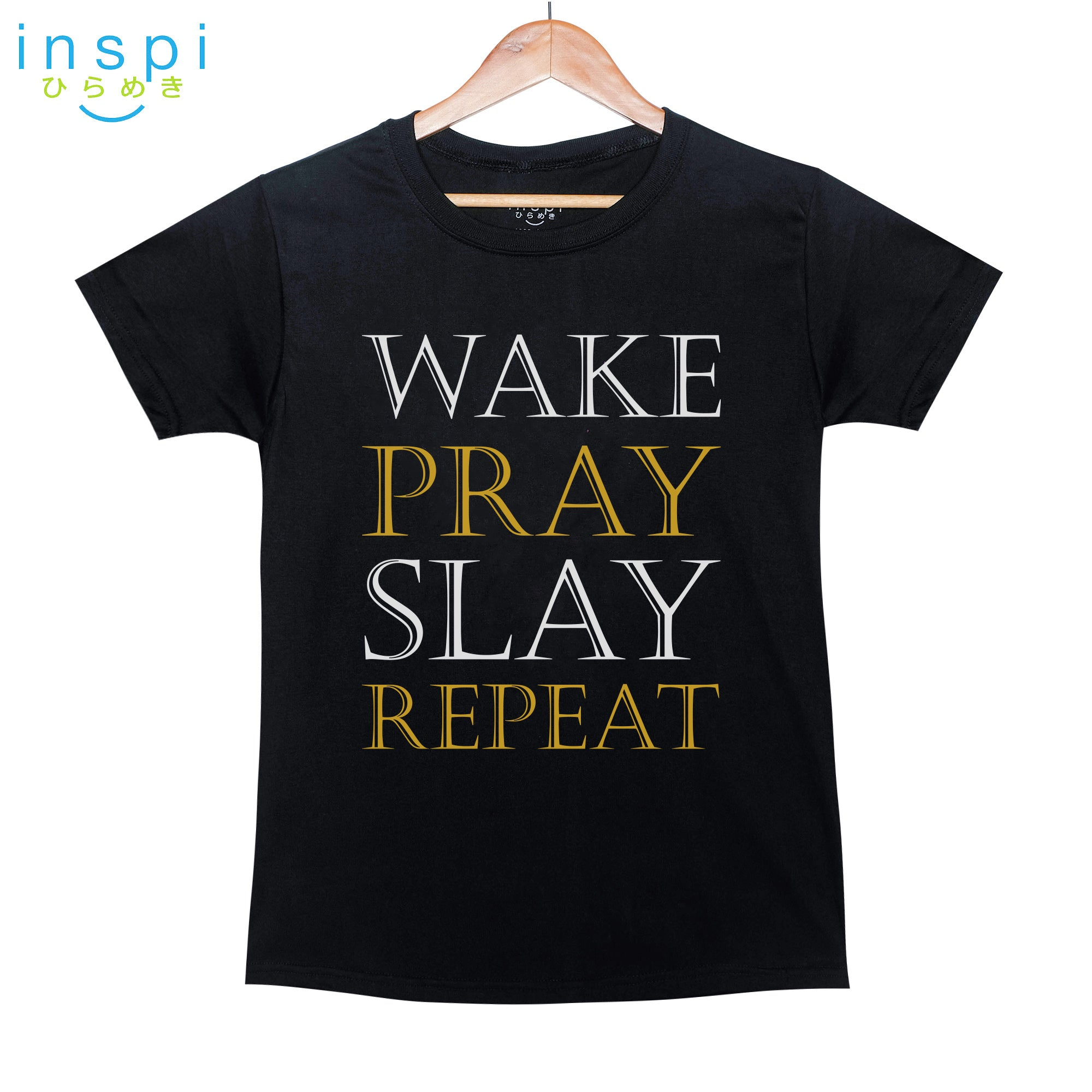 INSPI Shirt Pray Graphic Shirt in Black