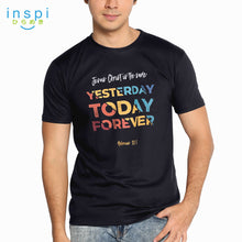 Load image into Gallery viewer, INSPI Shirt Jesus is The Same Graphic Tshirt in Black