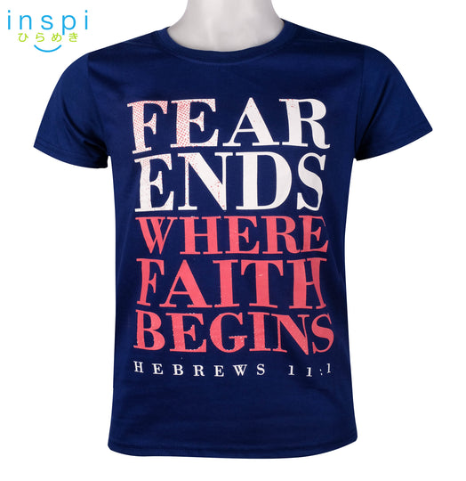 INSPI Shirt Fear Ends Graphic Shirt in Blue