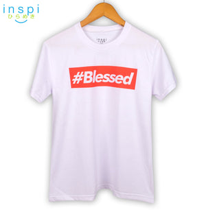 INSPI Shirt #Blessed Graphic Shirt in White