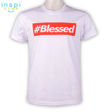 Load image into Gallery viewer, INSPI Shirt #Blessed Graphic Shirt in White