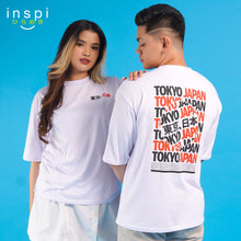 Load image into Gallery viewer, INSPI Tees Loose Fit Tokyo Japan Graphic Korean Oversized Tshirt in White For Men Women Unisex
