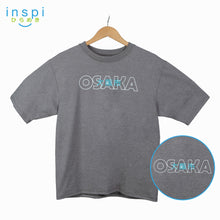 Load image into Gallery viewer, INSPI Tees Loose Fit Osaka Graphic Korean Oversized Tshirt in Acid Gray For Men Women Unisex