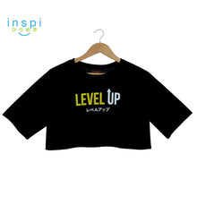 Load image into Gallery viewer, INSPI Oversized Crop Top Level Up in Black Graphic Loose Fit Crop Tee Ladies Blouse Korean Shirt