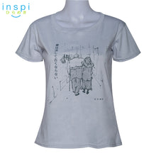 Load image into Gallery viewer, INSPI Tees Ladies Loose Fit Love Never Gets Old Graphic Tshirt in Light Gray