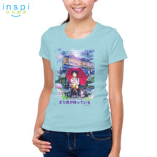 Load image into Gallery viewer, INSPI Tees Ladies Loose Fit Raining Again Graphic Tshirt in Mint