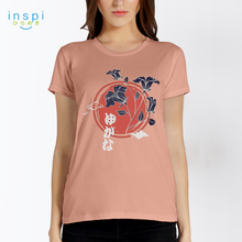 Load image into Gallery viewer, INSPI Tees Ladies Loose Fit Graceful Graphic Tshirt in Sorbet