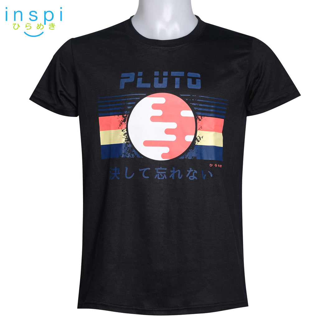 INSPI Tees Pluto Graphic Tshirt in Black