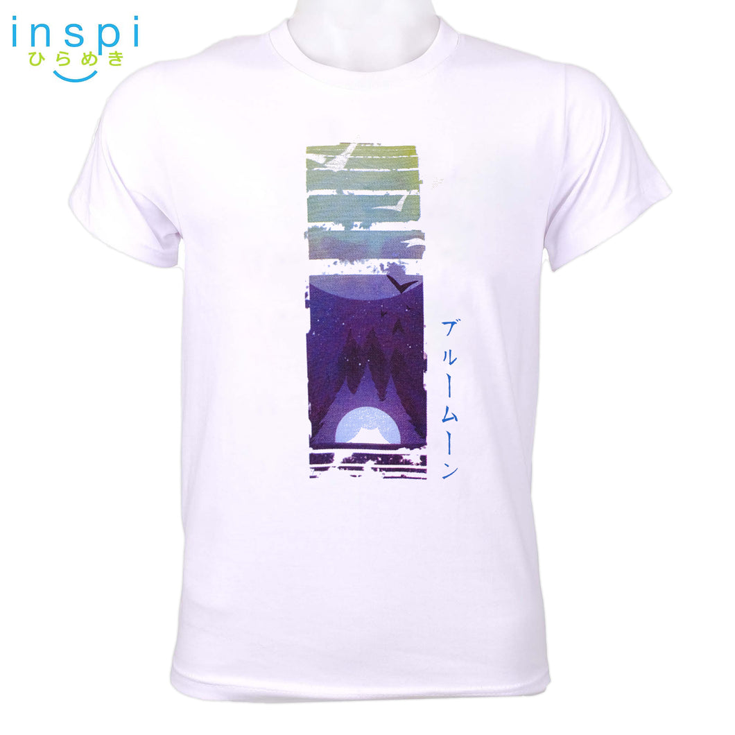 INSPI Tees Blue Moon Graphic Tshirt in White