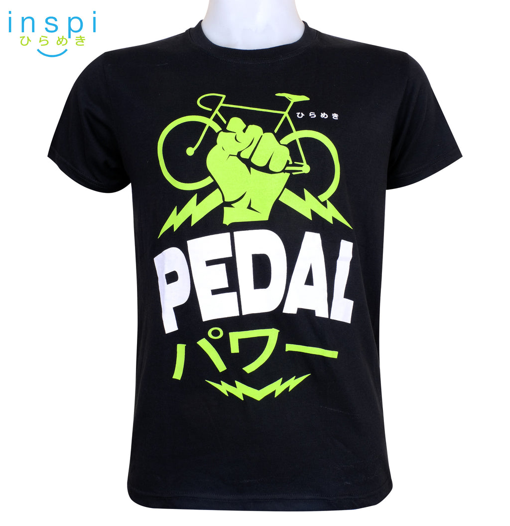 INSPI Tees Pedal Power Graphic Tshirt in Black