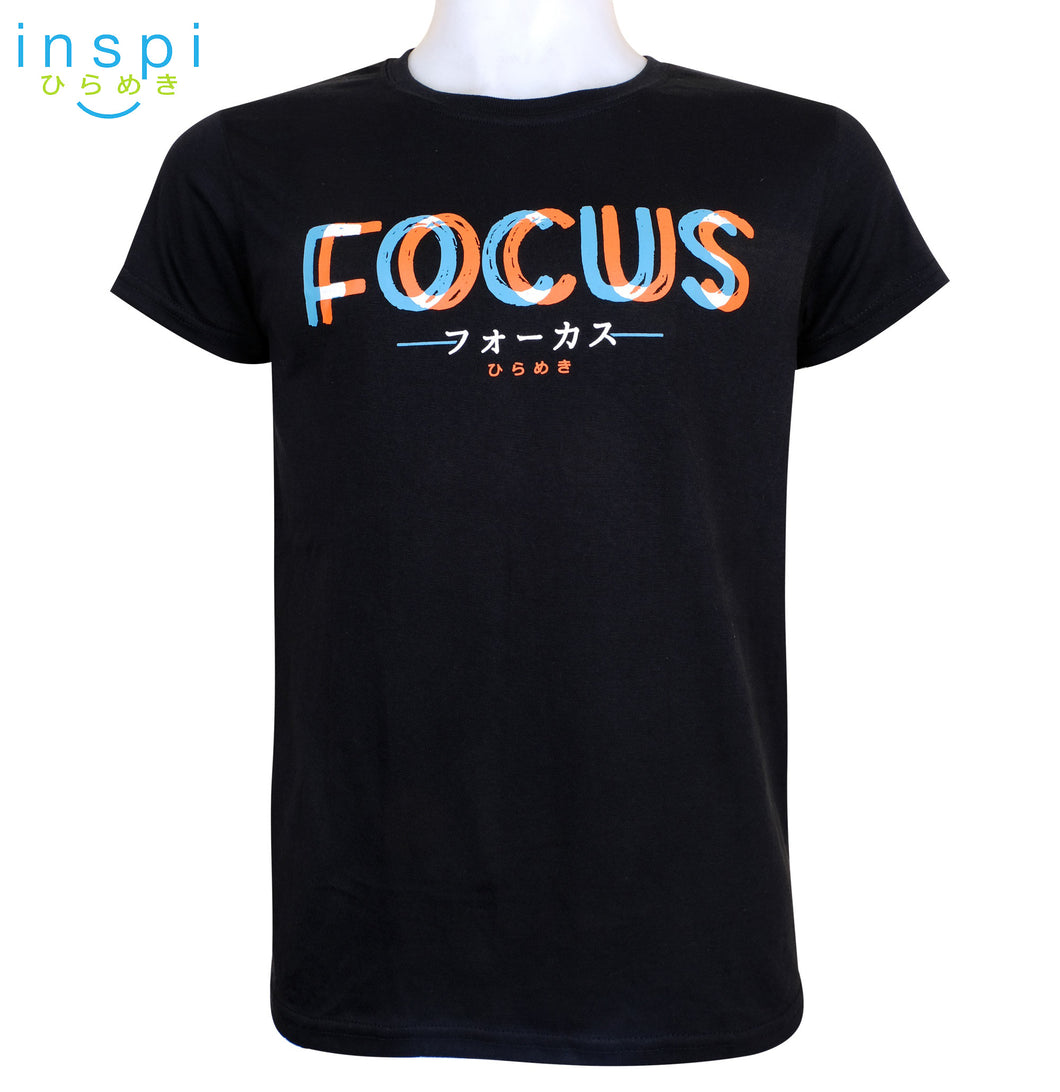 INSPI Tees Focus Graphic Tshirt in Black