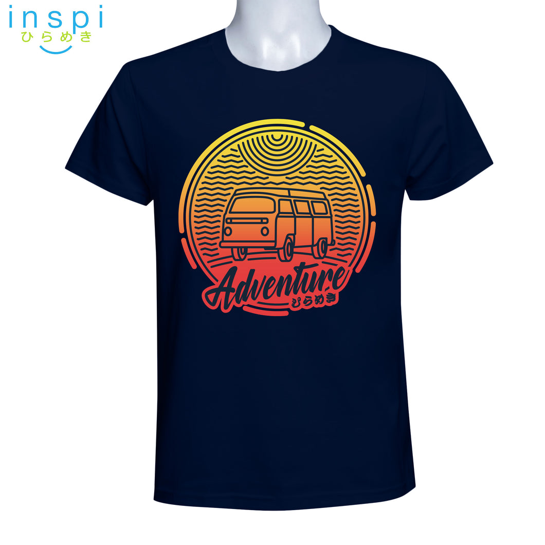 INSPI Tees Adventure Graphic Tshirt in Navy Blue