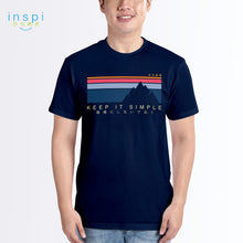 Load image into Gallery viewer, INSPI Tees Keep It Simple Graphic Tshirt in Navy Blue