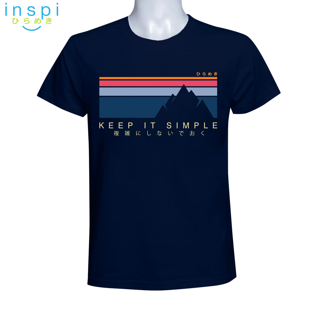 INSPI Tees Keep It Simple Graphic Tshirt in Navy Blue