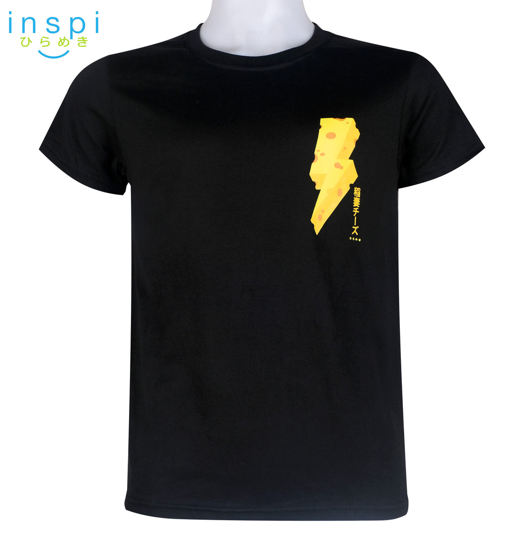 INSPI Tees Thunder Cheese Graphic Tshirt in Black